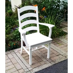 """Poly Lumber Wood Patio Set- 44"""" Square Table and 4 Ladderback Arm Chairs"""