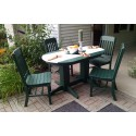 Poly Lumber Wood Patio Set- 5' Oval Table and 4 Traditional Chairs