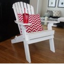 DELUXE 7 Slat Adirondack Chair with 2 cup holders