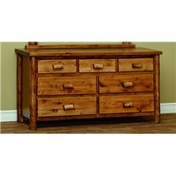Finished White Cedar 7 Drawer Dresser- Classic