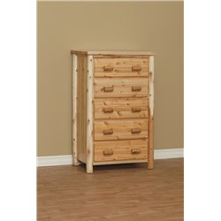 Finished White Cedar 5 Drawer Chest- Classic