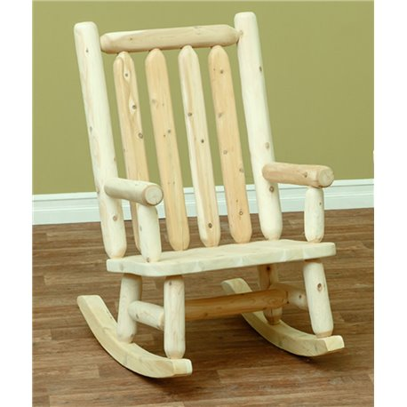 Finished White Cedar Rocking Chair- Classic