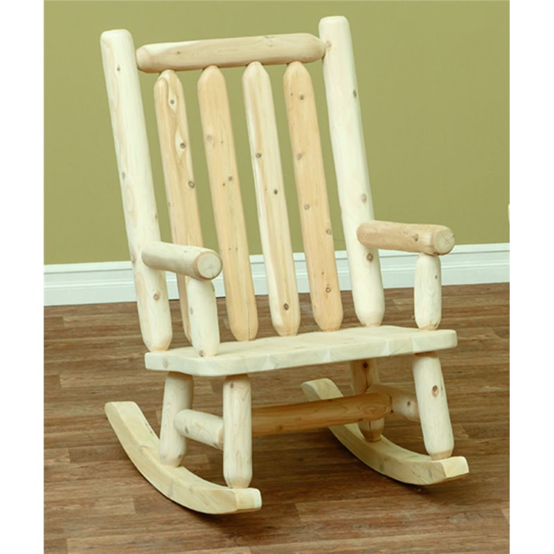 Elegant Finished White Cedar Rocking Chair  Classic ...
