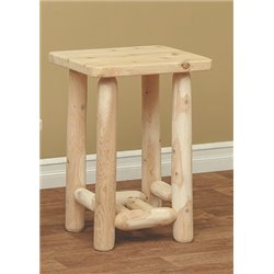 Finished White Cedar Adirondack End Table- Classic