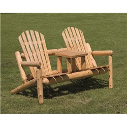 Finished White Cedar Outdoor Settee
