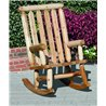 Finished White Cedar Outdoor Rocker