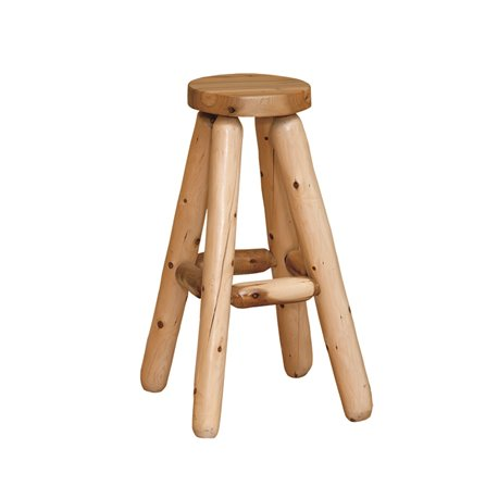 Finished White Cedar Stool- Rustic