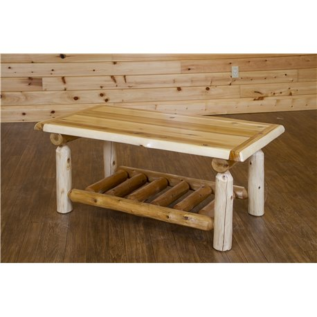 White Cedar Log Coffee Table