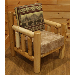 Rustic White Cedar Log Armchair- Amish Made USA