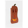Primitive Rustic Large Wooden Luminary Pumpkin with Lights