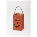 Primitive Rustic Wooden Pumpkin Box for Fall and Halloween