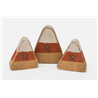 Primitive Rustic Painted Wooden Candy Corn- Set of 3