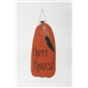 "Primitive Rustic 32"" Wooden Hanging Pumpkin with Crow"