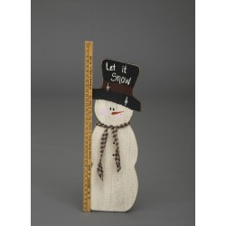 Rustic Winter Decoration Wooden Christmas Snowman