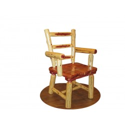 Rustic Red Cedar Log Captain's Chairs - SET OF 2