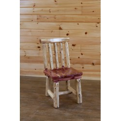 Rustic Red Cedar Log Spindle Back Dining Chair