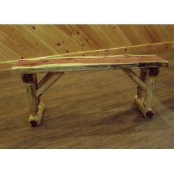 Red Cedar Log Dining/Hall Bench - 2ft / 3ft / 3.5ft / 5ft / 6ft Long
