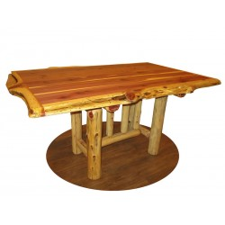 Live Edge Trestle Table 36x60