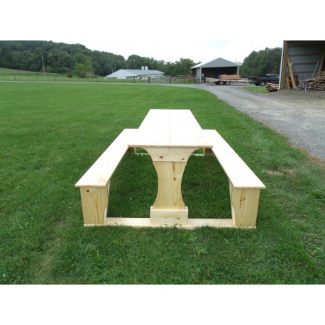 Commercial Grade Indoor-Outdoor Pine Pub Trestle Table
