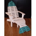 Poly Fish Adirondack Chair with Fish Tail Ottoman