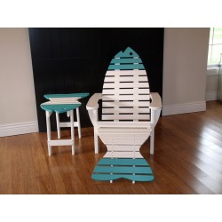 Poly Fish Adirondack Chair with Ottoman