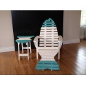 Poly Fish Adirondack Chair with Fish Tail Ottoman and Fish Side Table