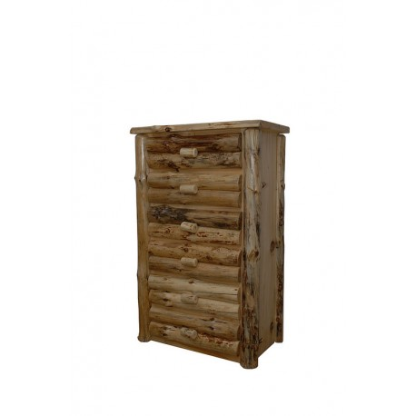 Rustic Pine Half Log 4, 5, or 6 Drawer Chest