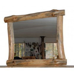 Rustic Pine Log Mirror Frame