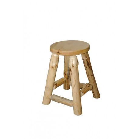 Rustic Pine Log Bar Stool *2 SIZES AVAILABLE*