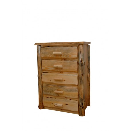 Rustic Pine Natural Live Edge Slab Nightstand/End Table