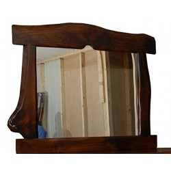 Rustic Pine Natural Live Edge Slab MIRROR FRAME
