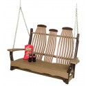 Poly Lumber Bentwood Style Swing - 18 Standard Colors