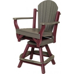 Poly Lumber SET OF 2 Fanback Style Swivel Balcony Chairs - 18 Standard Colors