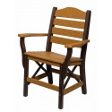 Set of 2 Poly Lumber Ladderback Style Arm Chairs - 18 Standard Colors