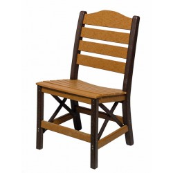 Set of 2 Poly Lumber Ladderback Style Side Chairs - 18 Standard Colors