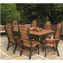 "Poly Lumber Patio Set with 72"" Rectangle Table & 6 Chairs - 18 Standard Colors"