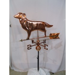 Outdoor Copper Dog Weathervane - Polished Finish