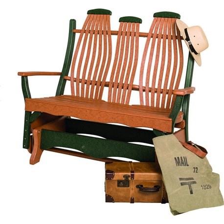 Poly Lumber Bentwood Style Double Glider - 18 Standard Colors
