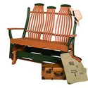 Poly Lumber Bentwood Style Double Glider - 7 Premium Colors