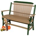 Poly Lumber Bentwood Style Garden Bench - 7 Premium Colors