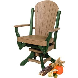 Poly Lumber Fanback Style Swivel Arm Chair - 7 Premium Colors