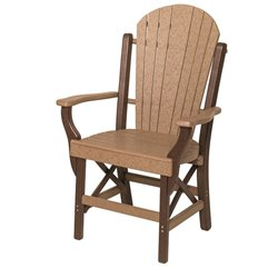 Poly Lumber Fanback Style Arm Chair - 7 Premium Colors