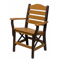 Poly Lumber Ladderback Style Arm Chair - 7 Premium Colors