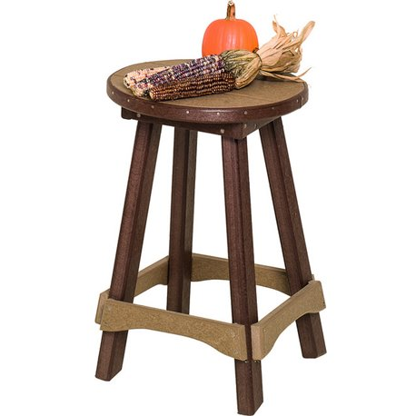 """Poly Lumber SET OF 2 Barstools (24""""H) - Fits Balcony Tables - 18 Standard Colors"""