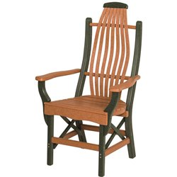 """Poly Lumber Patio Set with 72"""" Rectangle Table & 6 Chairs - 18 Standard Colors"""