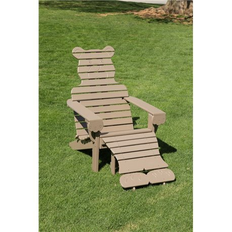 Poly Bear Adirondack Chair with Ottoman