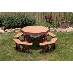 Poly Lumber Children's Octagon Picnic Table