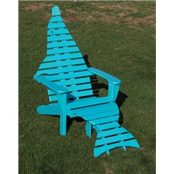 Poly Dolphin Adirondack Chair with Ottoman