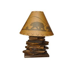 Rustic Natural Reclaimed Barn Wood Table Lamp
