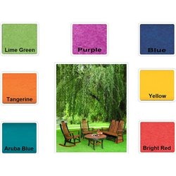"Poly Lumber Patio Set with 60"" Round Balcony Table & 6 Fanback Swivel Arm Chairs- 7 Premium Colors"